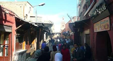 Marakesz, typowa ulica