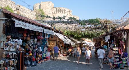 Rodos, sklepy dla turystów